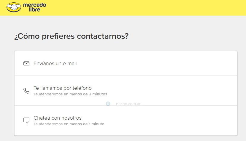 Cómo contactar a MercadoLibre por mail, teléfono o chat